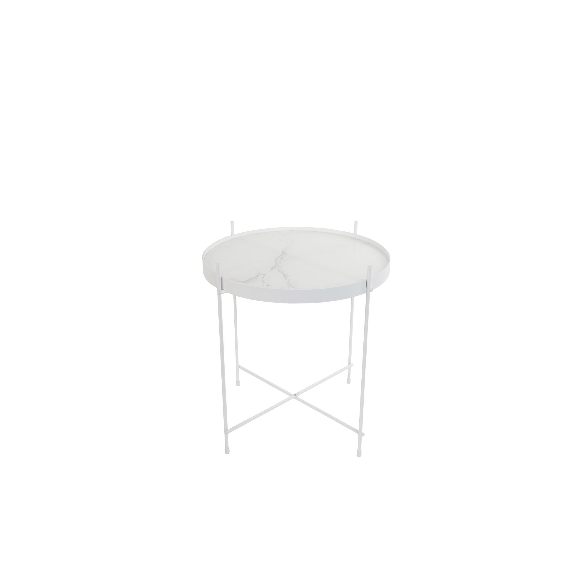 Side Table Wit.Zuiver Cupid Marble Side Table Wit